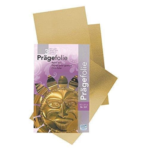 Surtido de 3 Láminas de Metales para Repujado-Grabado 18,5x29 cm Dorado