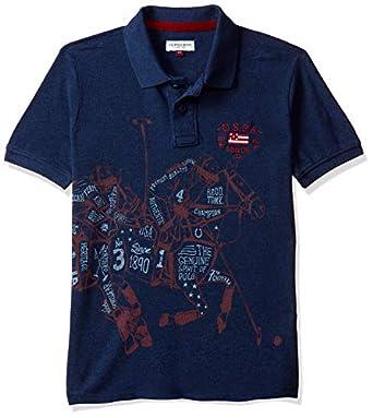 US Polo Association Boy's Plain Regular fit T-Shirt