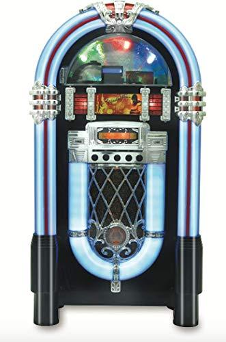 Jukebox Wireless Bluetooth Wood Sound System CD USB MP3 Radio Juke Box