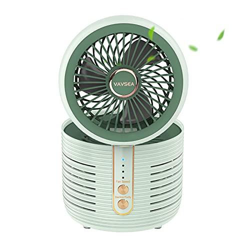 VAVSEA Purificador de Aire, Ventilador Purificador de Aire Multifunción, Purificador de Aire con Ventilador, Elimina Olores, Partículas en el Aire, Filtro de Aire para Dormitorio, Oficina, Verde