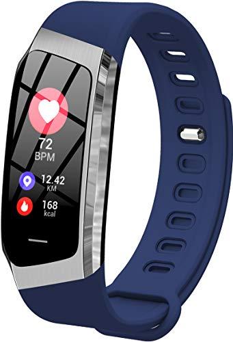 Findtime Unisex Fitness Tracker Digital Quarz Silikon Activitäts Armband Herzfrequenz Blutdruck Monitor Schrittzähler