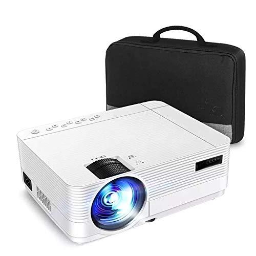 yanzz Proyector Mini Proyector 1080P Soporte WiFi Sincronizar Pantalla de teléfono Inteligente 250'Mini proyector Funciona con TV para Cine en casa