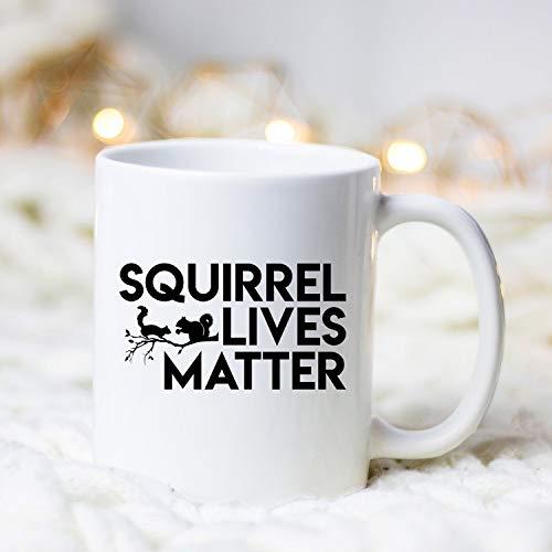 Taza de cerámica de Squirrel Lives para hombre, 11 onzas