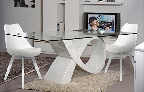 Giovanni Marstern design eettafel Alpha wit met 6 stoelen Fuego White