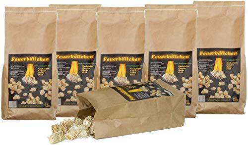 RaiffeisenWaren Kaminanzünder, Feueranzünder, Feuerbällchen (Anzünder ökologisch, aus Naturprodukten - Wachs, Naturholz; Nässe unempfindlich; Brenndauer ca. 10 min) 15 kg