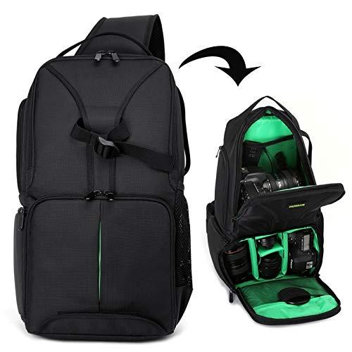 La selección de Cici Caso del Hombro Cámara Impermeable a Prueba de Golpes Bolsa Acolchada Backpackage for Nikon (Naranja) (Color : Green)