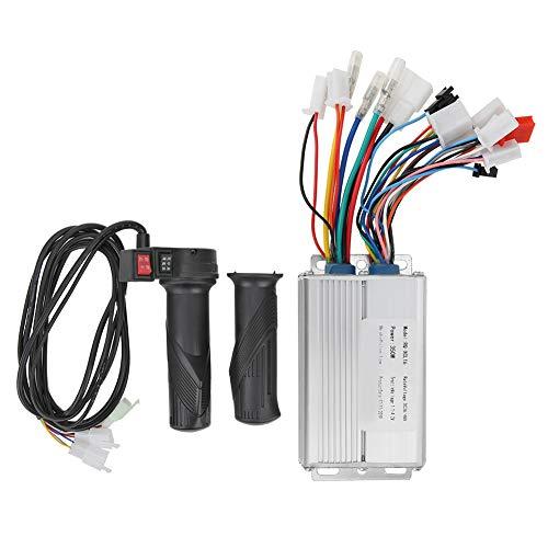 Deror Elektro-Fahrrad-Controller-Kit, 36V/48V 350W Rot Schwarz DREI-Gang-Schalter Bürstenloser Controller-Kit Gasgriff