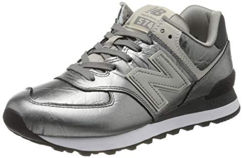 New Balance Damen 574v2 Sneaker, Grau (Grey/Black Grey/Black), 38 EU