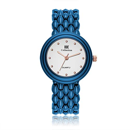 HBR Relojes de pulsera de moda elegantes para mujer, correa de acero inoxidable, reloj de mujer para mujer, esfera de mujer, reloj de pulsera para mujer (color : E)