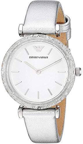 Emporio Armani Reloj Analógico para Mujer de Cuarzo con Correa en Cuero AR11124