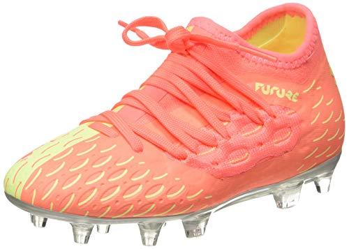 PUMA Future 5.3 Netfit Osg Fg/ag Jr, Unisex-Kinder Fußballschuhe, Orange (NRGY Peach-Fizzy Yellow 01), 31 EU