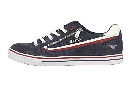 MUSTANG Shoes Halbschuhe in Übergrößen Blau 4147-301-820 große Herrenschuhe, Größe:49