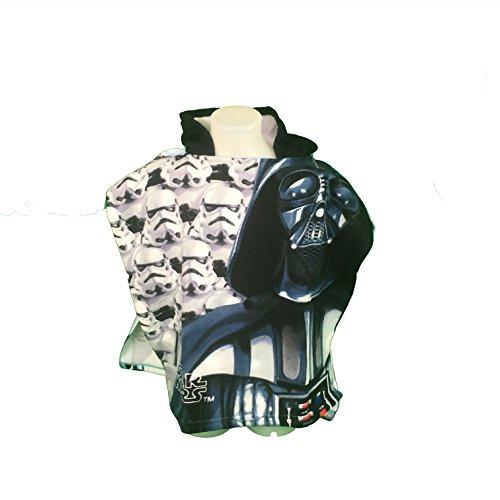 STARWAR Badeponcho–Cape de Bain–Mikrofaser 100% Polyester–110x 55cm–Starwars–Disney–Darth Vader–Empire–Klone