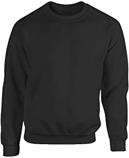 Men's Plain Sweatshirt Jersey Jumper Plus Size Sweater Pullover Work Casual Top