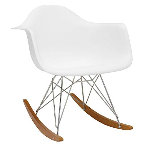 Vitra 4401130004 Stuhl RAR Eames Plastic Armchair Gestell verchromt, weiß