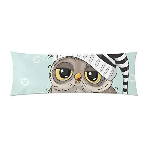 CiCiDi Kissenbezug Sleeping Cute Owl Body Pillowcase Baumwolle Deroation