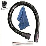 lavor tubo ricambio aspiracenere per hashley - riu - freddy - pocker kombo flessibile + bocchetta - in metallo da 1mt + OMAGGIO Panno Parpyon flessibile ricambi accessori aspira cenere