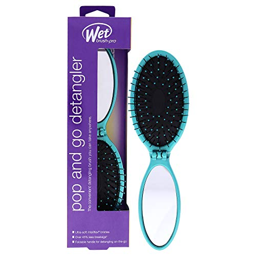 Brosse démêlante Pro Pop and Go - Teal by Wet Brush pour unisexe - 1 Pc Brosse à cheveux