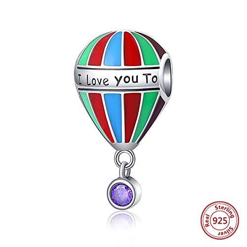 DASFF Fit Charms armbanden zilver 925 kleur email ballon parels sterling zilver sieraden voor liefhebbers vrouwen jongen cadeau