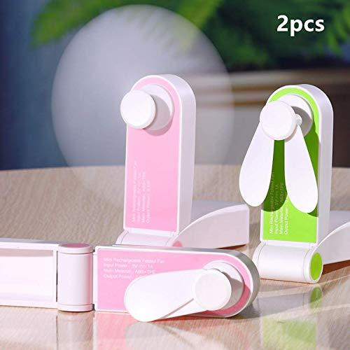 KeepGrace 2 ventiladores plegables con bolsillo USB para guardar pequeños ventiladores originales para el hogar pequeños electrodomésticos de escritorio