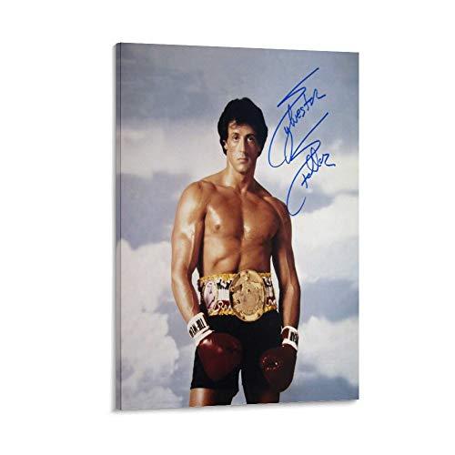 Sylvester Stallone - Póster de película de boxeo de Rocky y RP (50 x 75 cm)