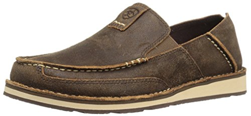 Ariat Men's Cruiser Slip-on Shoe, Rough Oak, 11 2E US