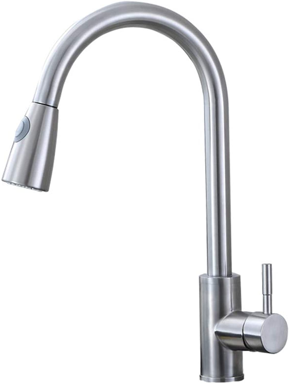 MCCW Kitchen faucet stainless steel pullable structure with cold water and hot water for home kitchen