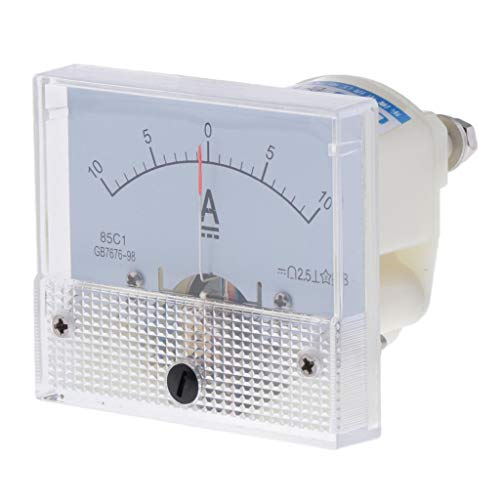 B Blesiya DC Analog Panel Ampere Aktuellen Zähler Amperemeter Messgerät - 0-1A 0-5A 0-10A - 0-10A