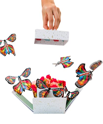 Send a Cake Explosion Box Gift with Flying Butterfly Surprise- Birthday, Holiday, Special Occasion – Birthday Treat for Women, Men, Adults, Kids