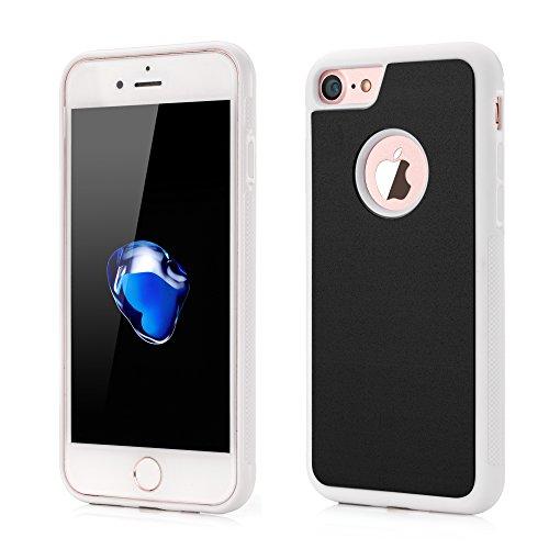 VAPIAO iPhone 6, 6s Hülle Anti Gravity Schutzhülle [selbstklebend] Case Bumper TPU Backcase in weiß