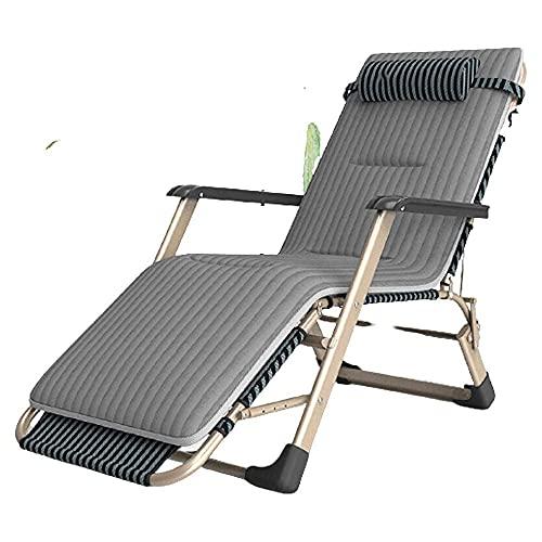 Sillones de Patio reclinables por Gravedad Cero, sillón de Oficina, Comedor Plegable, sillón Perezoso de Cama Individual, sillón Plegable Informal para Exteriores