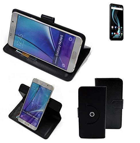 K-S-Trade® Case Schutz Hülle Für Allview X4 Soul Infinity Plus Handyhülle Flipcase Smartphone Cover Handy Schutz Tasche Bookstyle Walletcase Schwarz (1x)