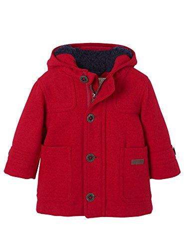 Vertbaudet Dufflecoat für Baby Jungen, Winterjacke rot 62