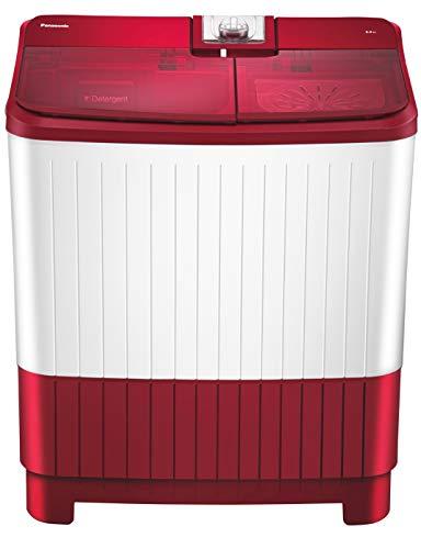 Panasonic 8 kg Semi-Automatic Top Loading Washing Machine (NA-W80H5RRB, Shiny red)