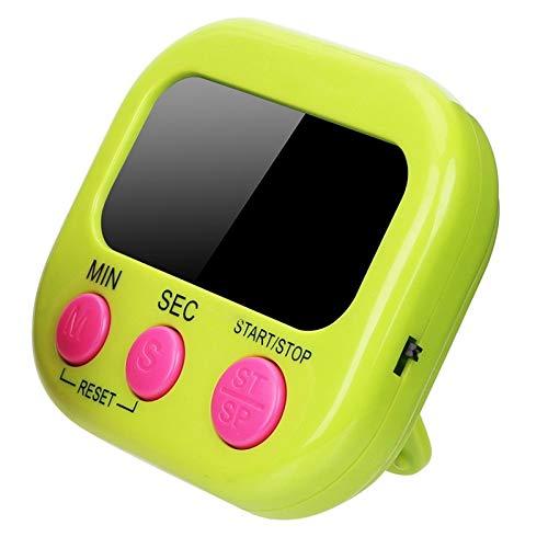 XKMY Temporizador digital de cocina con alarma de gran tamaño y soporte magnético con pantalla LCD para cocinar, hornear, deportes, juegos, temporizador de cocina (color: 3)