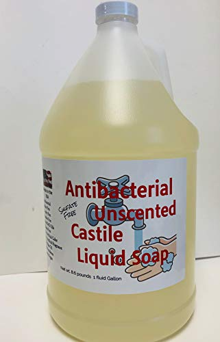 Antibacterial Unscented Castile Soap, 1 Gallon, Sulfate Free,...