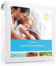 LINENSPA Waterproof Bed Bug Proof Encasement Protector - Blocks out Liquids, Bed Bugs, Dust Mites and Allergens