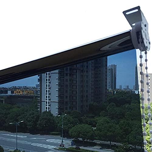 JEVCTCN Persianas para Ventanas, Sala de Estar, balcón, persianas enrollables para Exteriores, persiana, Cortina de Ventana de privacidad con filtrado de luz Azul con Accesorios, Transparent