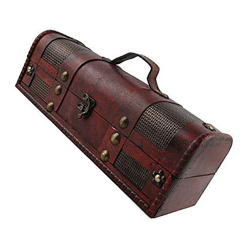 Caja de Almacenamiento de Vino, Caja de Regalo Caja de Regalo de Lujo de Madera para Caja de Embalaje de Vino, champán o Whisky