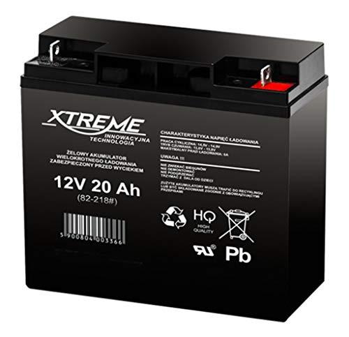 Xtreme - Batería del gel Movilidad 12V 20Ah Para silla de ruedas eléctrica. Pila recargable. Acumulador