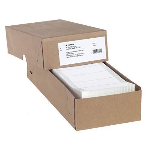 HERMA 8211 Computeretiketten, endlos (88,9 x 35,7 mm, Papier, matt, 1-bahnig) selbstklebend, permanent haftende Endlosetiketten, 4.000 Etiketten, weiß
