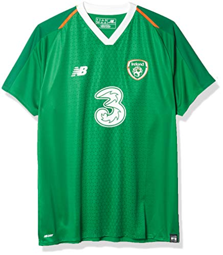 New Balance Women's FA Ireland Home Short Sleeve Jersey, Jolly Green, 14