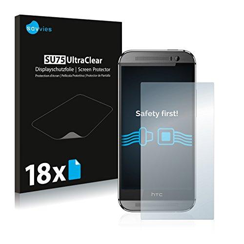 savvies 18-Pezzi Pellicola Protettiva Compatibile con HTC One M8 / M8s Protezione Schermo Trasparente