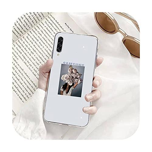 diseño de flores de moda mujeres cajas de teléfono transparente para Samsung A71 S9 10 20 HUAWEI p30 40 honor 10i 8x xiaomi nota 8 pro 10t11-a1-huawei p30 pro