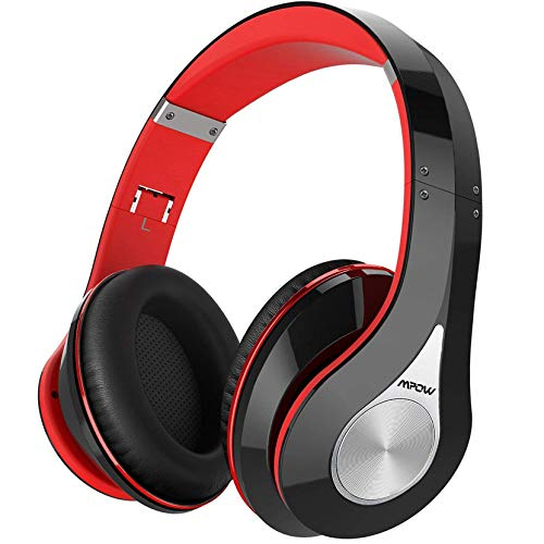 Bluetooth Headphones, [Up to 20 Hrs] Mpow Wireless Over-Ear Foldable Hi-Fi Stereo Headset, Snug Earmuffs, Built-In Noise Cancelling Microphone for Hands-Free Calling, Wired Mode for TV/PC/Cell Phones
