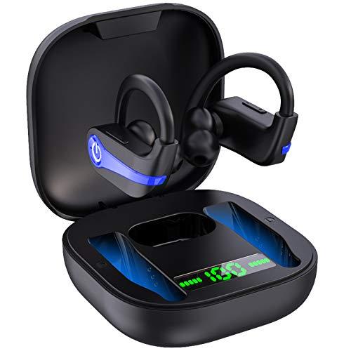 Motast Cuffie Bluetooth 5.1, Sport Auricolari Bluetooth Senza Fili, Cuffie Wireless In-ear con Mic, IP7 Impermeabile Auricolari Wireless, Riduzione Dei Rumori CVC 8.0, Riproduzione 40h, Display LED