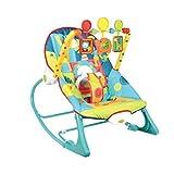 LEMORTH Rocker Infantil a niño pequeño, Columpio de bebé eléctrico, Silla portátil con música calmante, con Juguetes Rellenos 3 Colgantes Lindos Formas de Animales, Silla de Mecedora Infantil Asiento