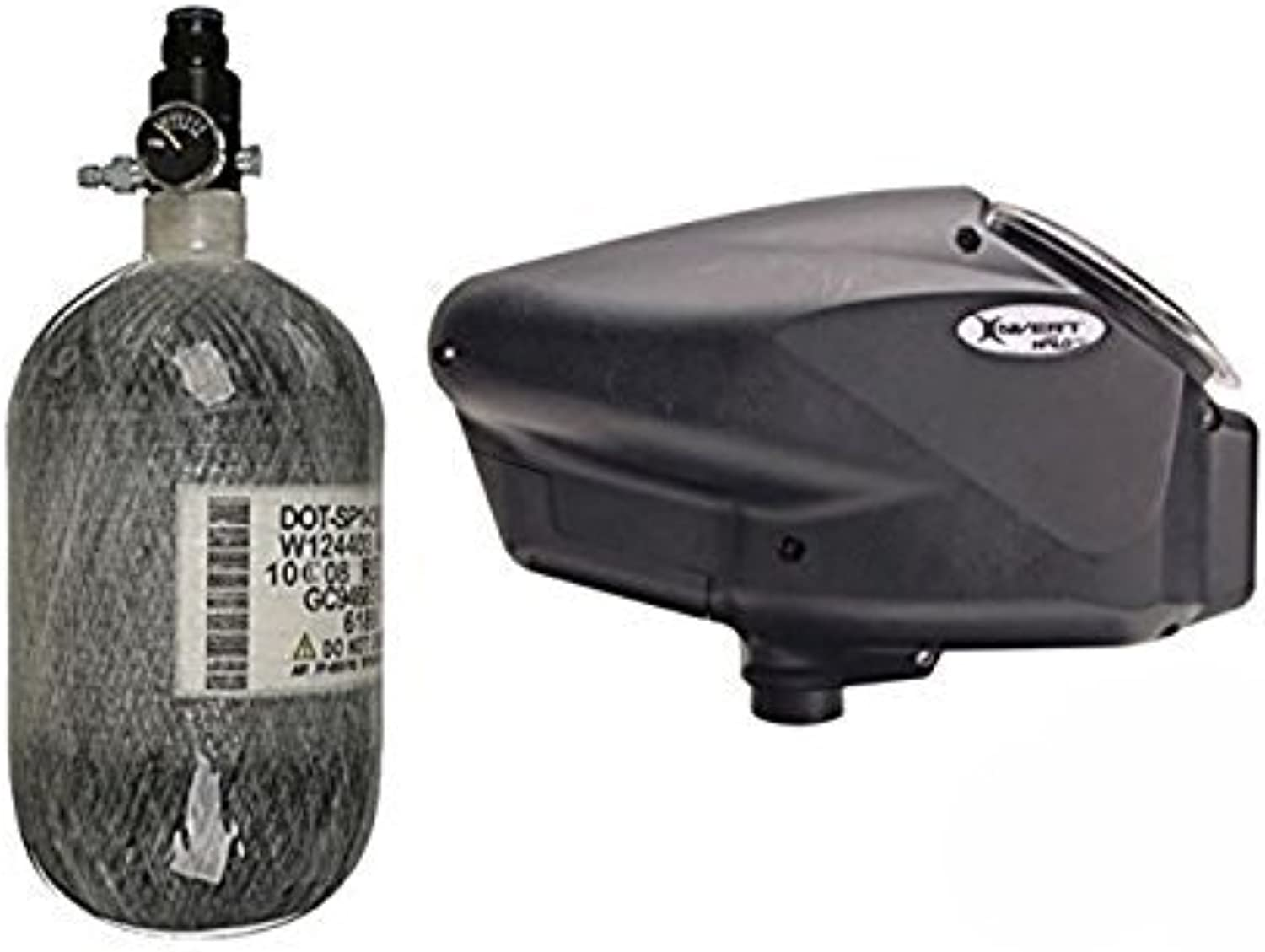 Empire Halo Too Hopper with 68 4500 HPA Tank  Black by Empire Paintball