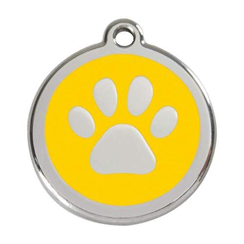 Red Dingo Hundemarke Pfote Gelb S