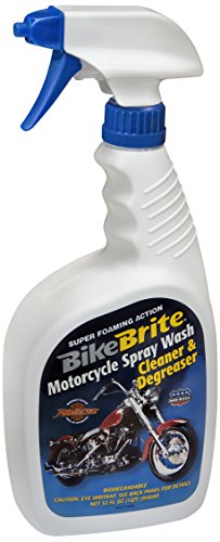 Bicicleta Brite mc44K azul/blanco motocicleta Spray Wash–Paquete de regalo (32fl. oz.